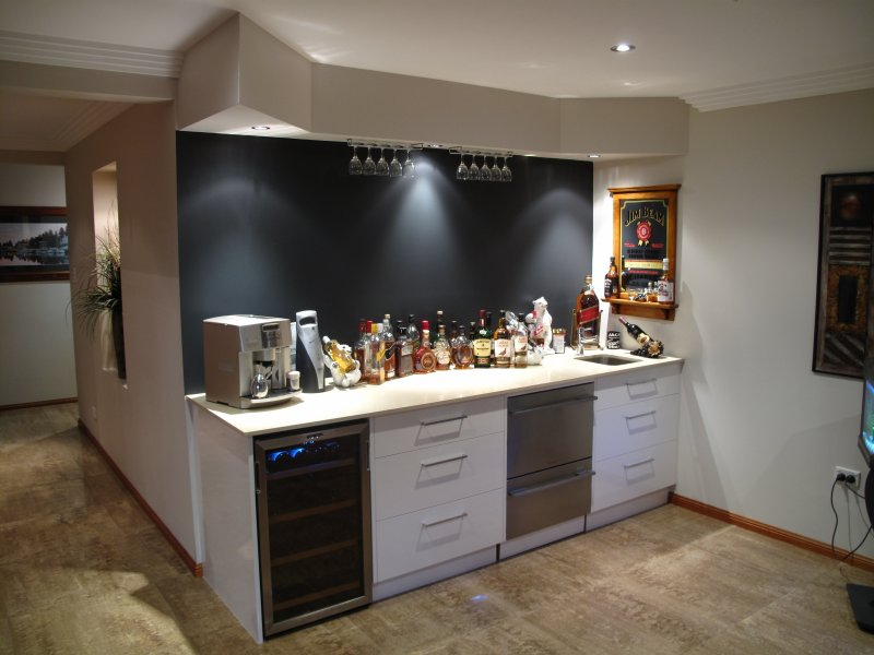 Bar with coffee maker