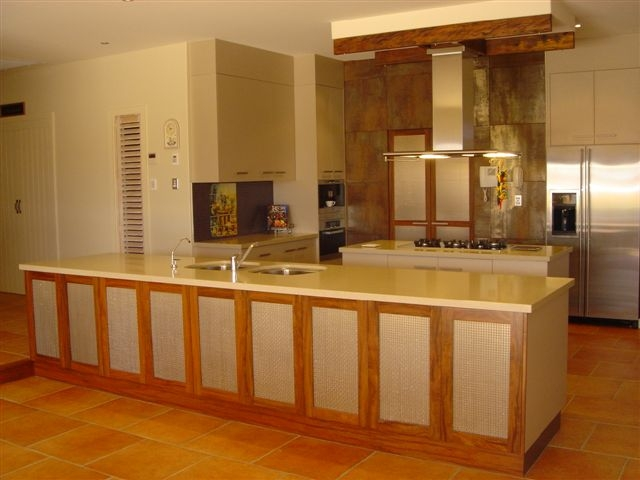 Spacious Kitchen with Timber