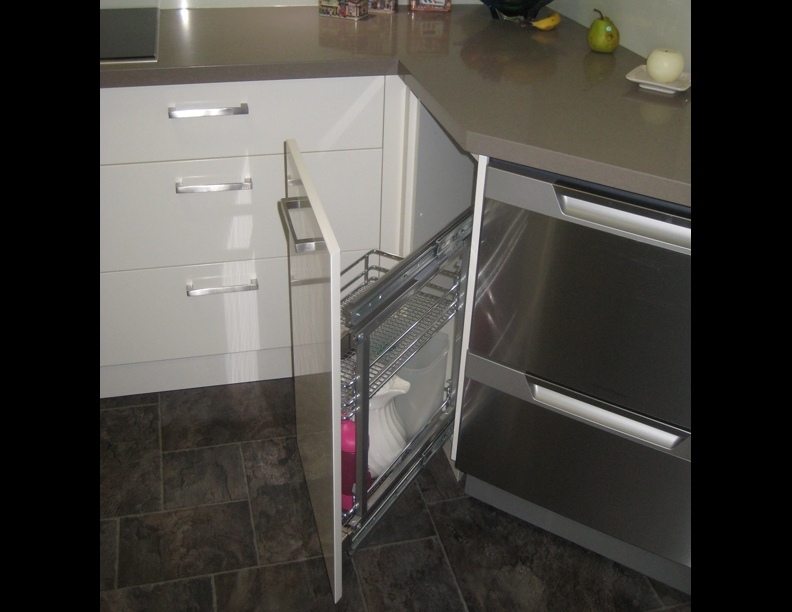 Space saving in hard to get to cupboards