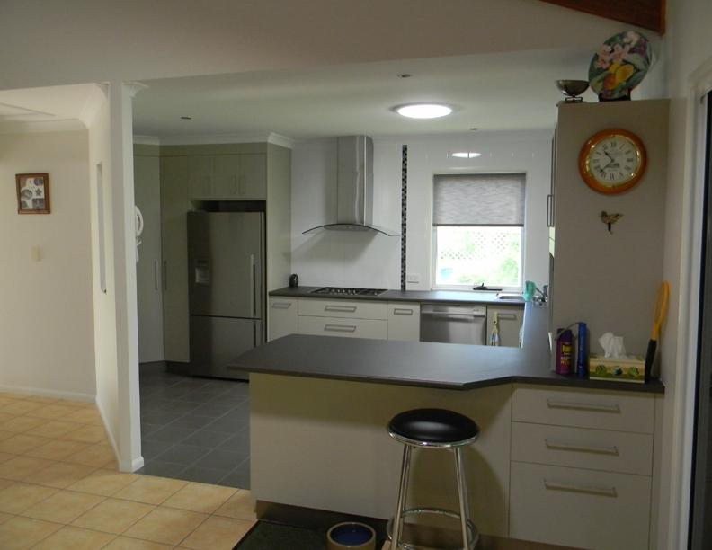 Open kitchen laminate bench tops