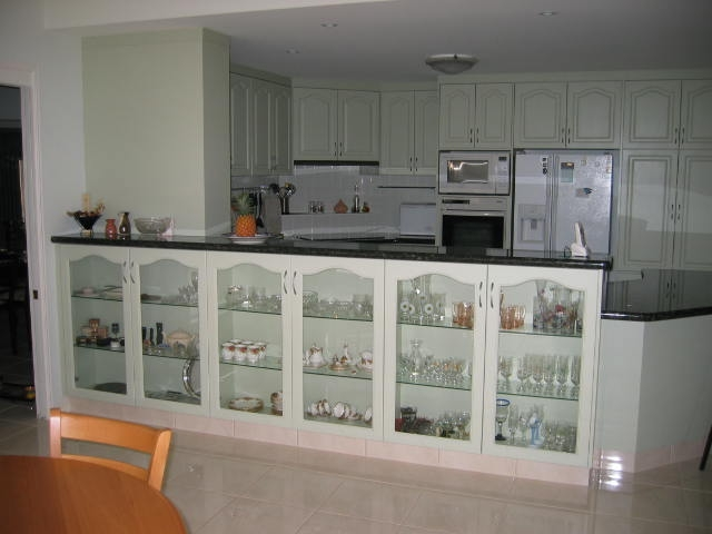 Glass display cupboards