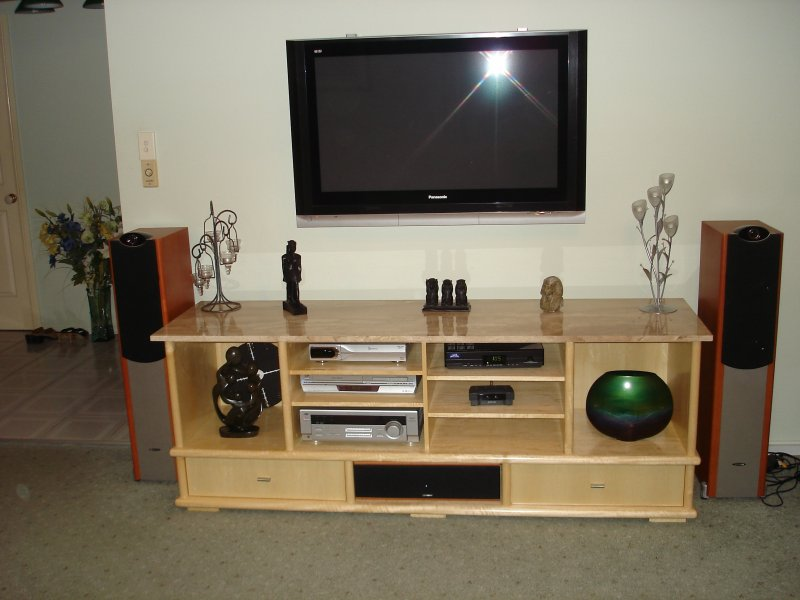 Entertainment unit light wood