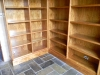 Timber book shelves