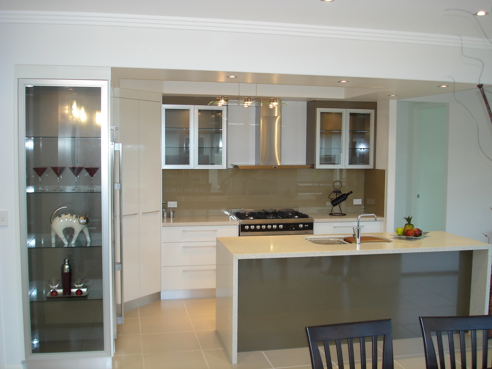 Kitchen With Glass Display
